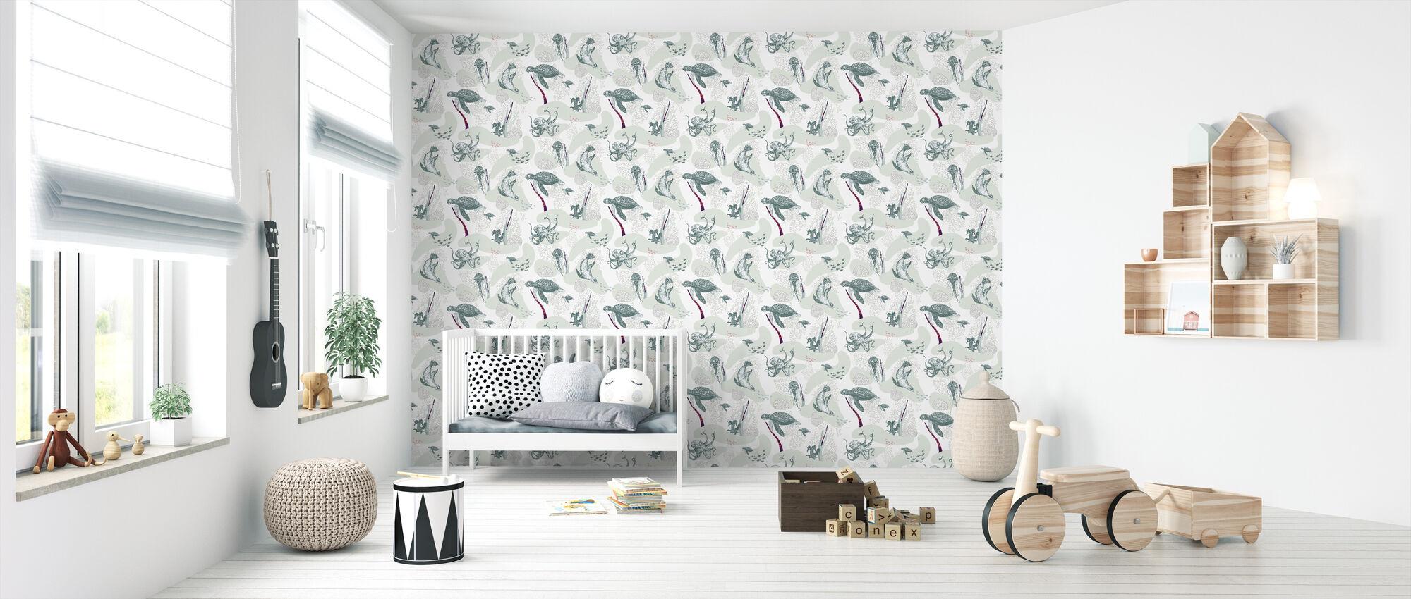 Galapagos Green - Wallpaper - Nursery