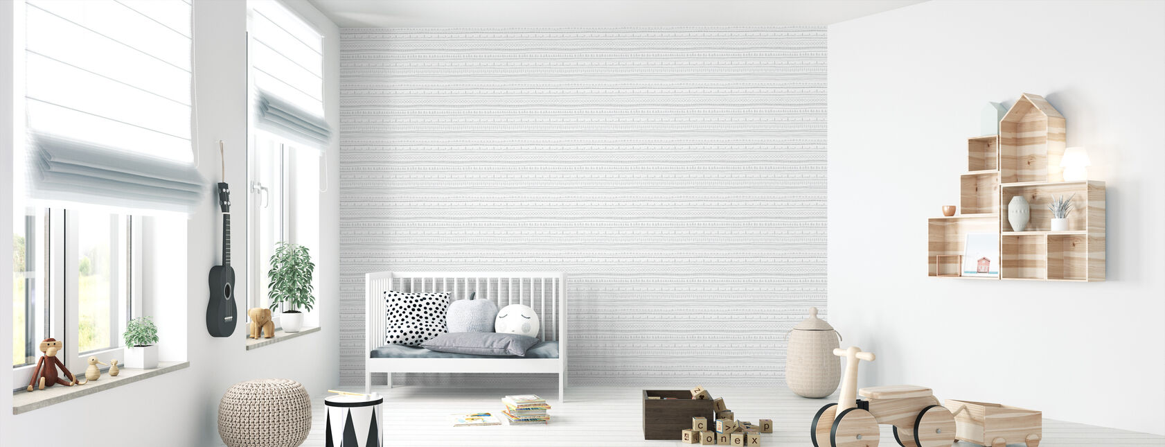 Nordic Folk Ash - Wallpaper - Nursery