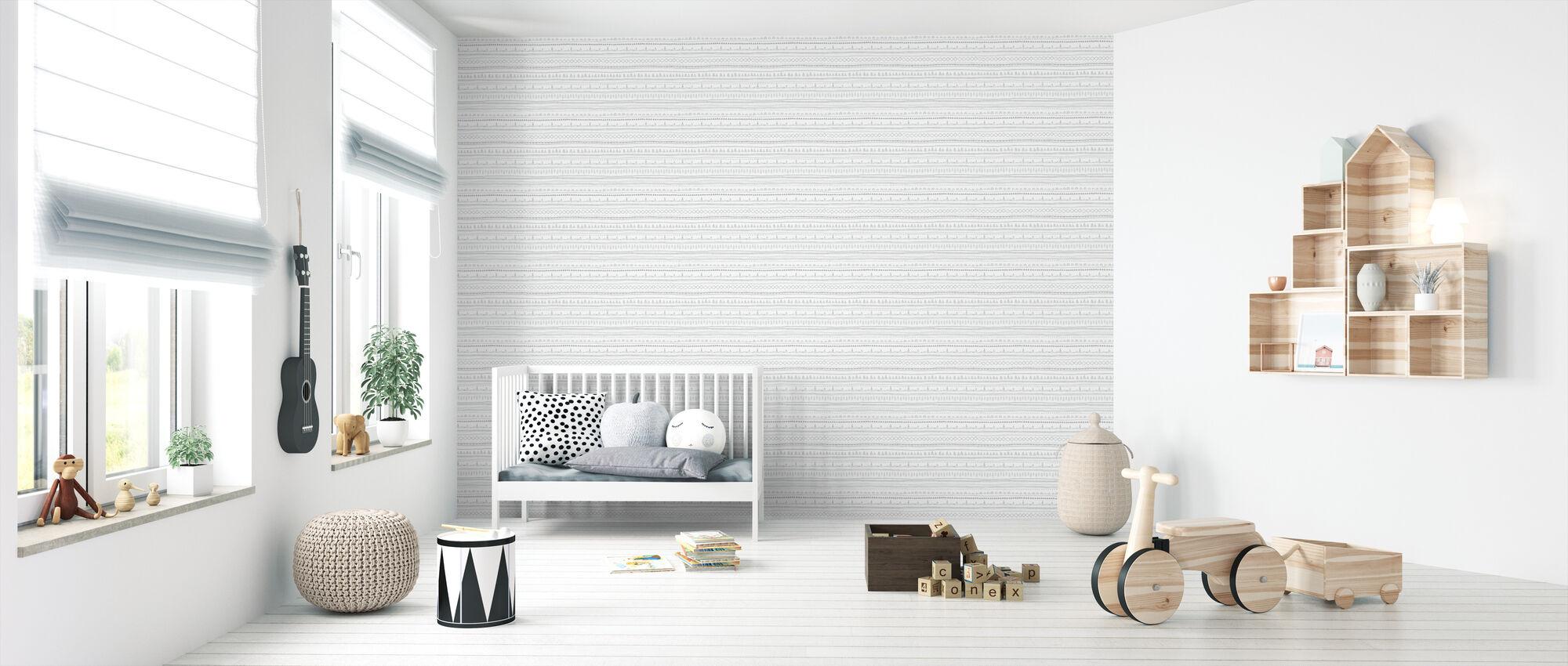 Nordic Folk Ash - Wallpaper - Nursery