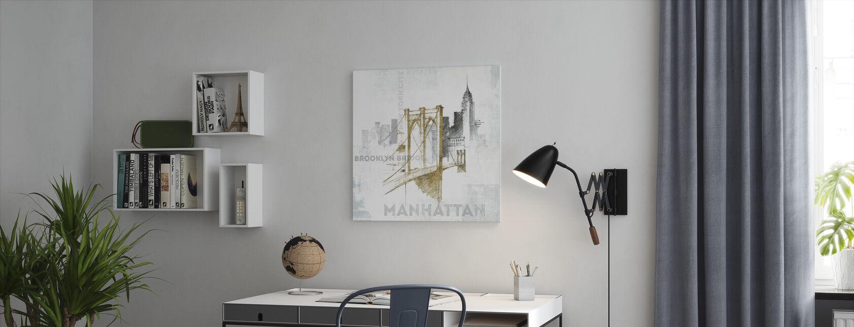 Brooklyn Bridge - Canvas print - Office