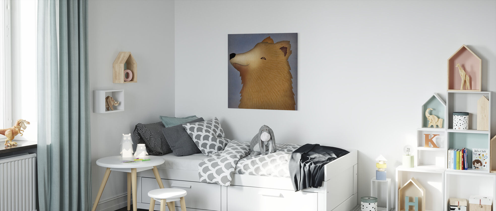 brunbjørn wow - Lerretsbilde - Barnerom
