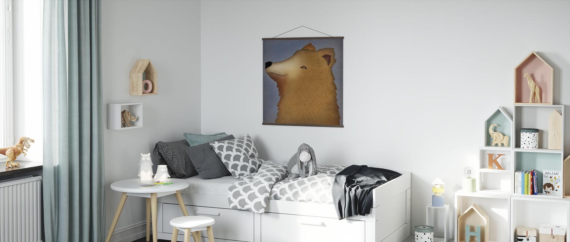 brunbjørn wow - Plakat - Barnerom