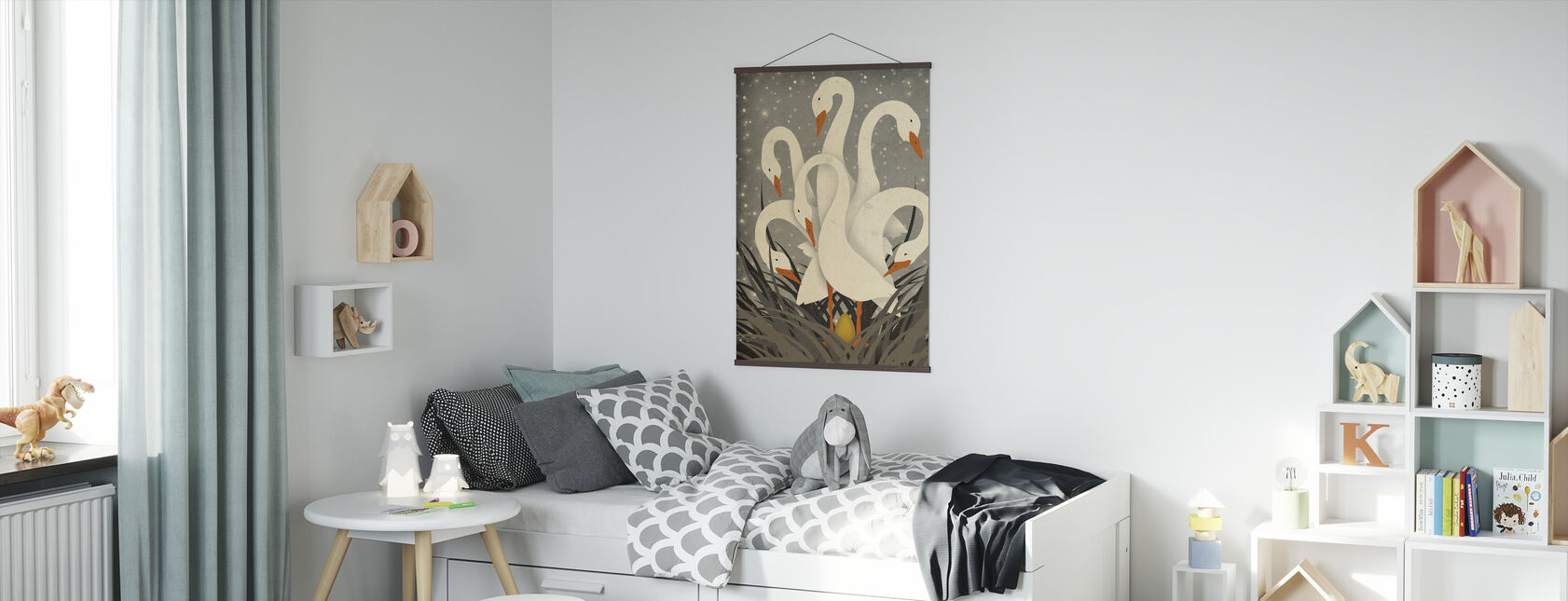 Six Geese A Laying - Poster - Kids Room