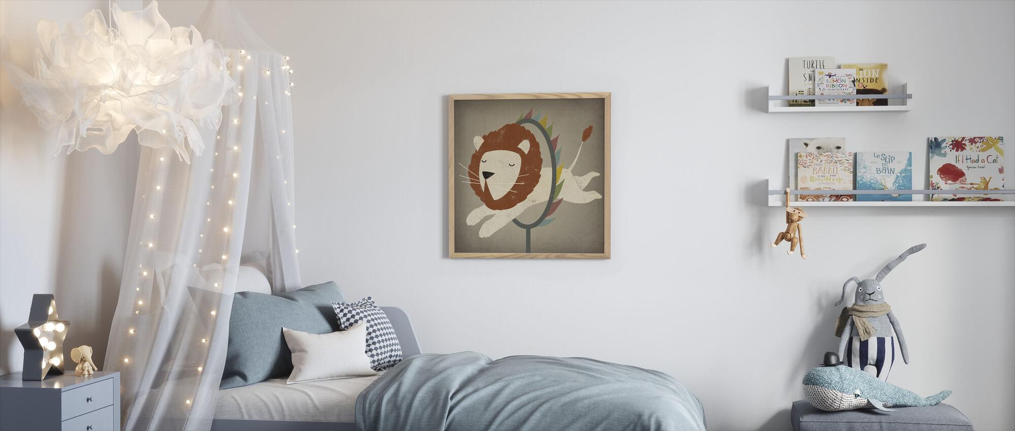 Circus Lion - Framed print - Kids Room