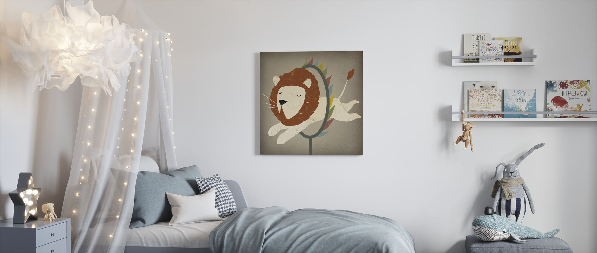 Circus Lion - Canvas print - Kids Room
