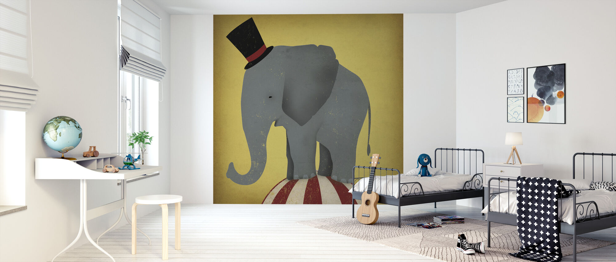 Circus Elephant - Wallpaper - Kids Room