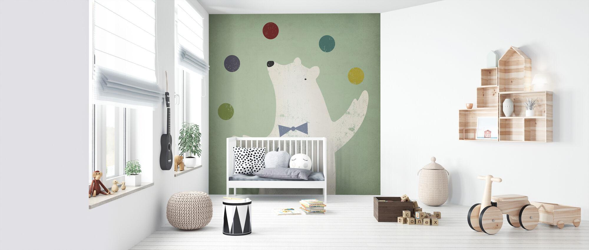 Cirkus isbjørn - Tapet - Babyværelse