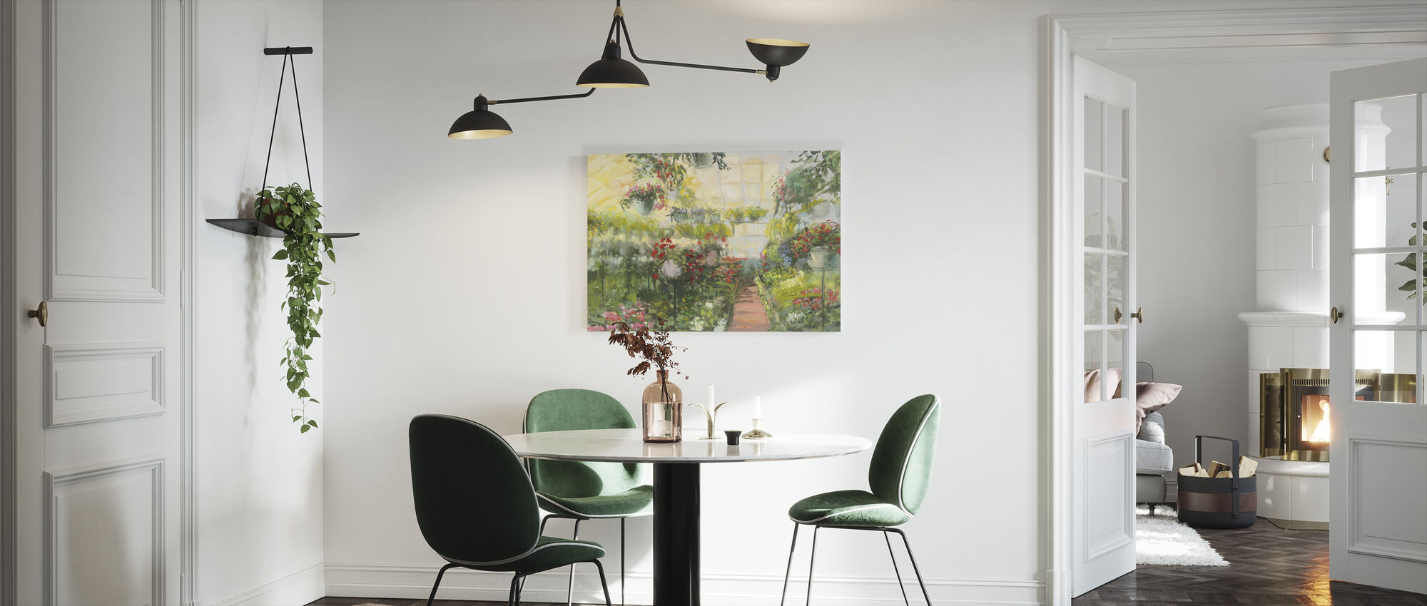 Greenhouse Flowers - Canvas print - Kitchen