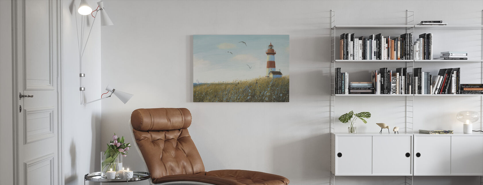 Seaside View - Canvas print - Living Room
