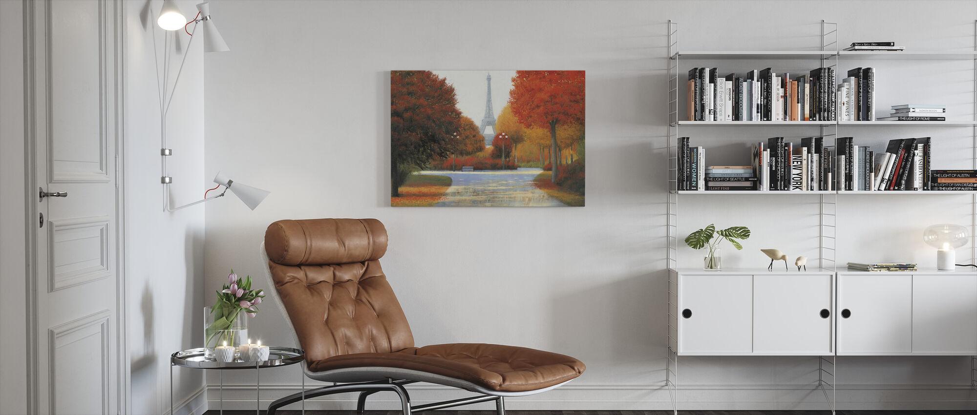 Autumn in Paris - Canvas print - Living Room