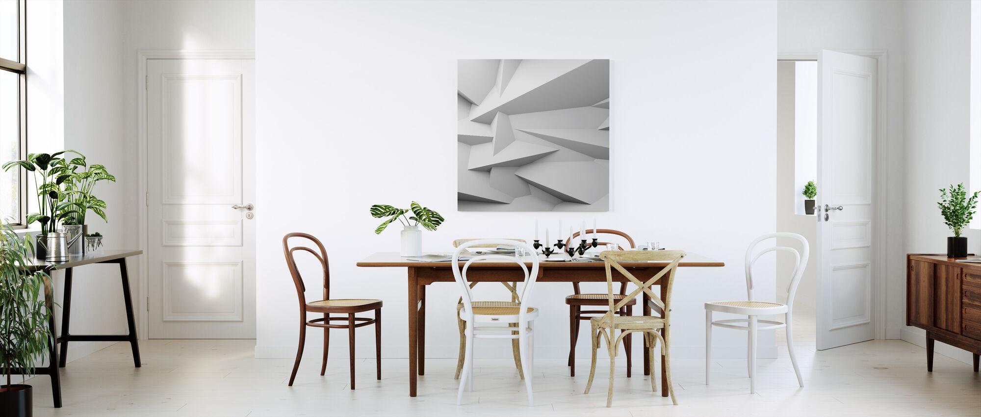 Viistetyt 3D-seinä - Canvastaulu - Keittiö