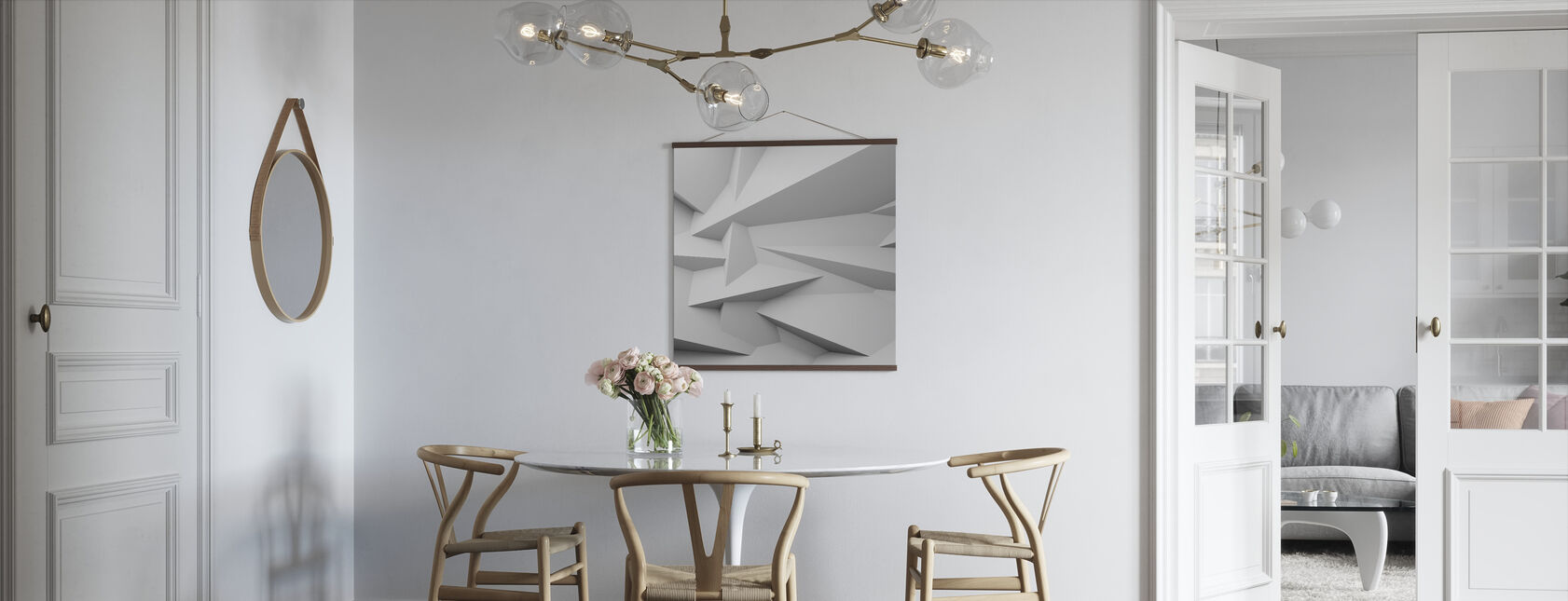 Faceted 3D Wall - Poster - Kitchen