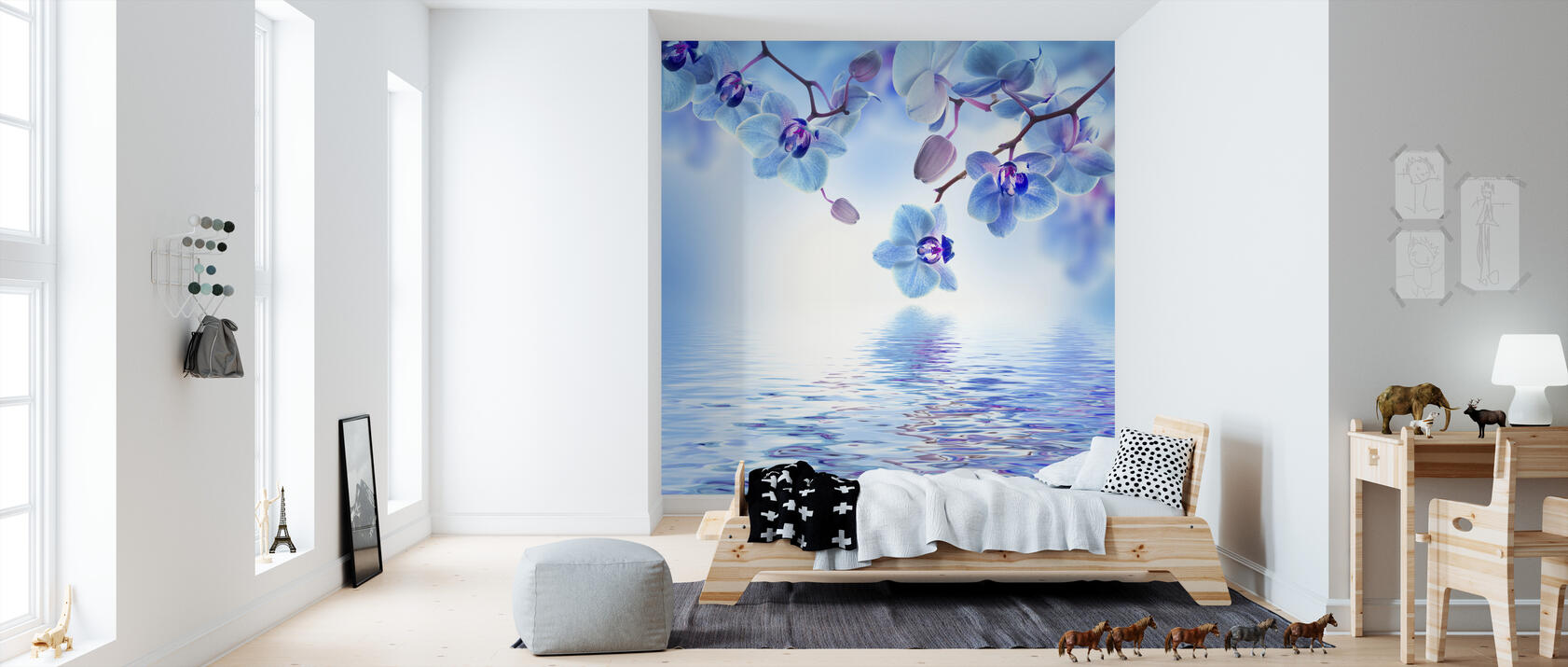 tropical blue orchid beliebte fototapete photowall. Black Bedroom Furniture Sets. Home Design Ideas