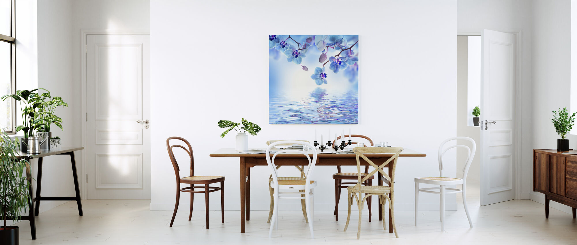 Tropical Blue Orchid - Canvas print - Kitchen