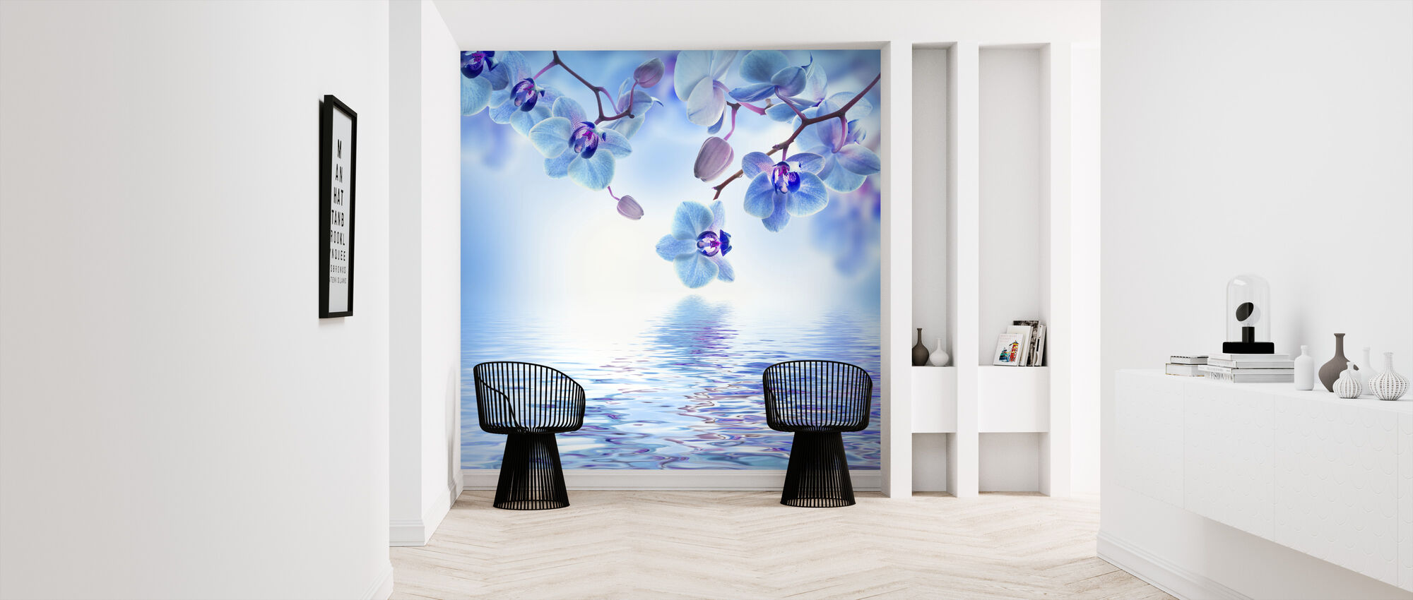 Tropical Blue Orchid - Wallpaper - Hallway