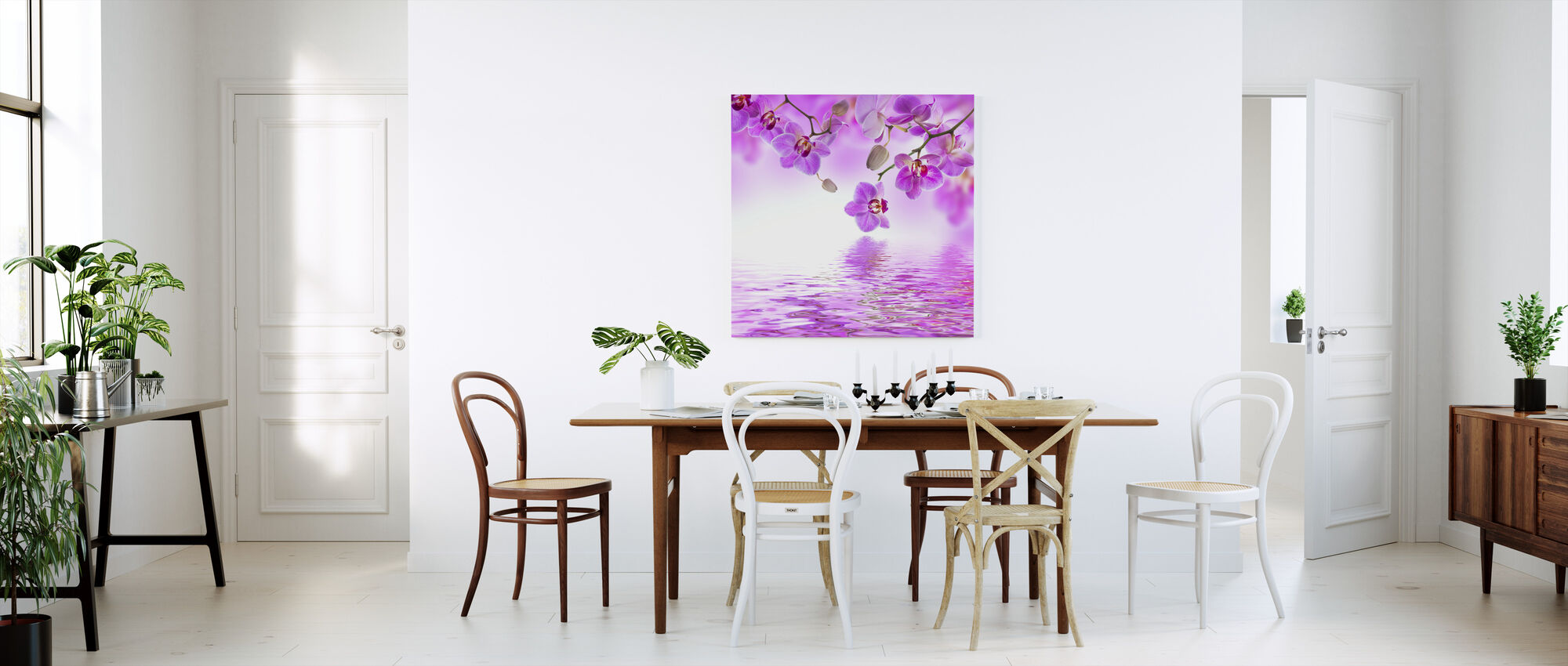 Tropical Purple Orchid - Canvas print - Kitchen