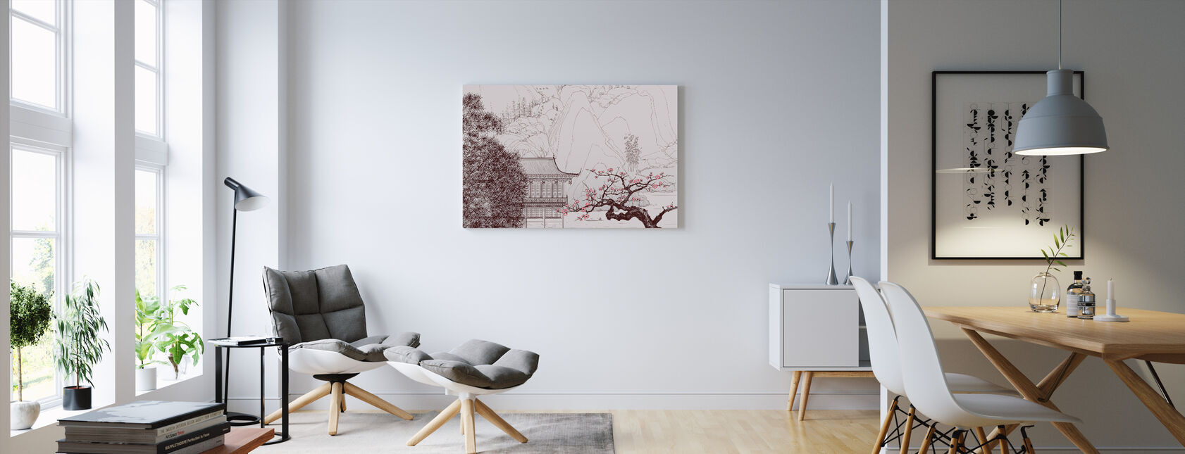 Japanese Cherry Blossom - Canvas print - Living Room