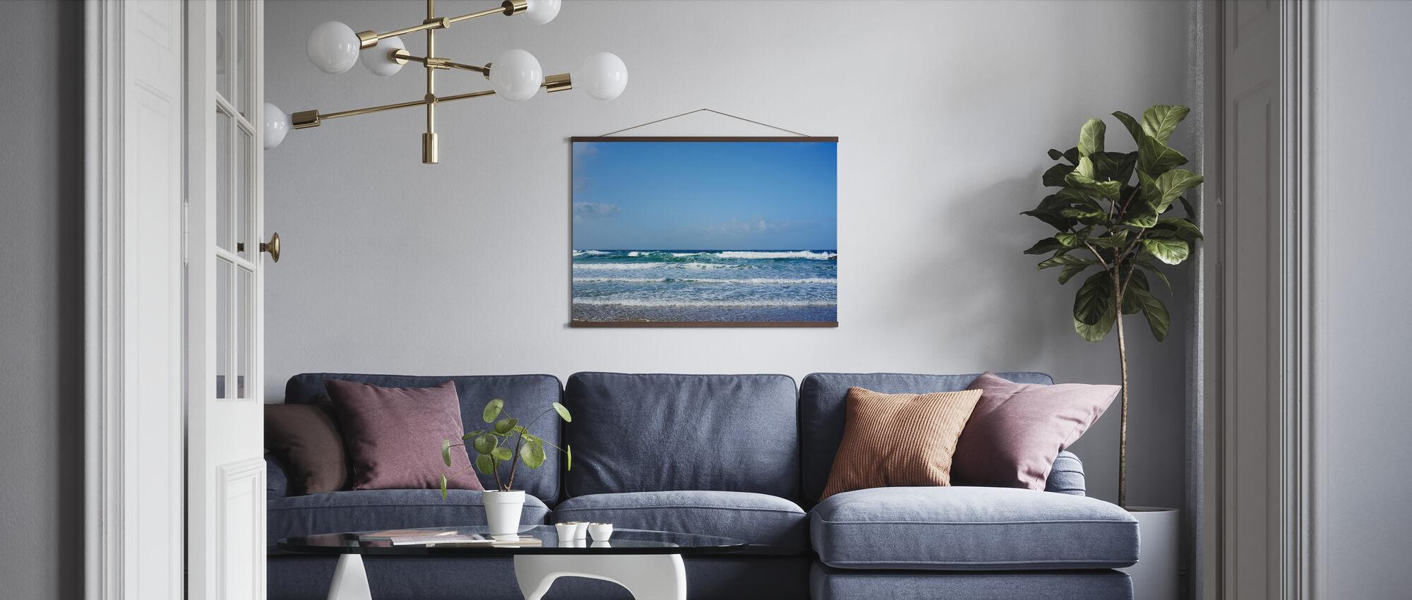 Zachte Atlantische golven - Poster - Woonkamer