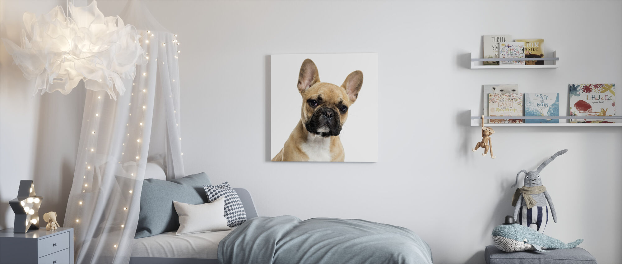Portrait of a French Bulldog - Canvas print - Kids Room