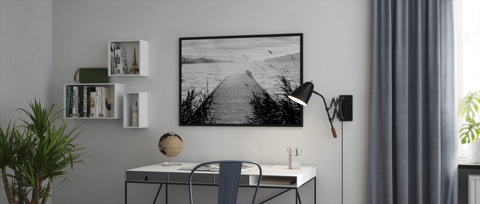 Pier on Hadeland - Framed print - Office