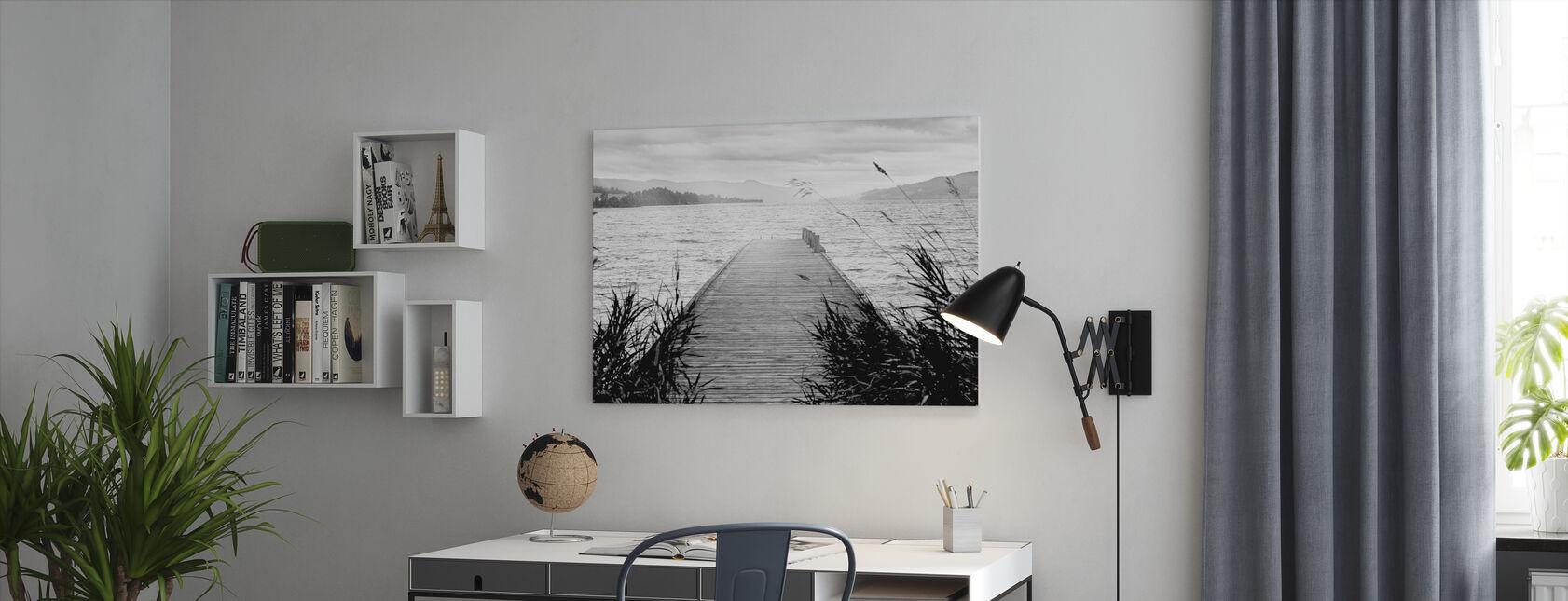 Pier on Hadeland - Canvas print - Office