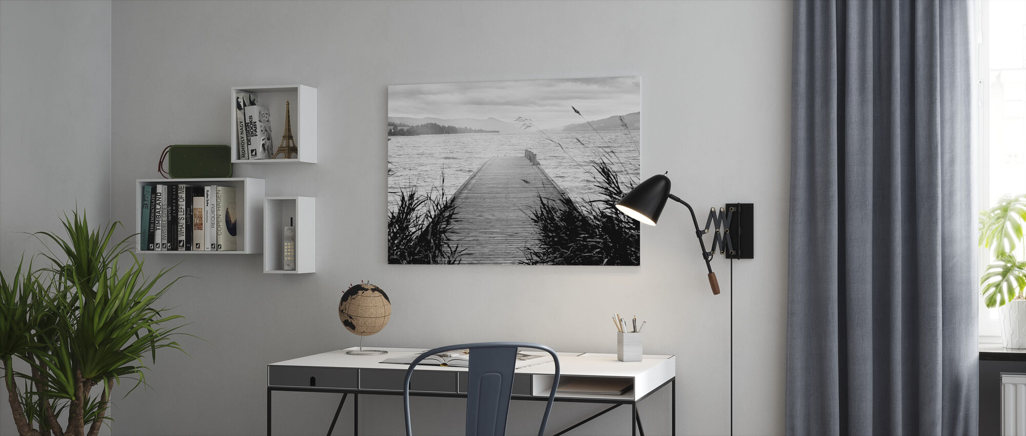 Pier on Hadeland - Canvas print - Office