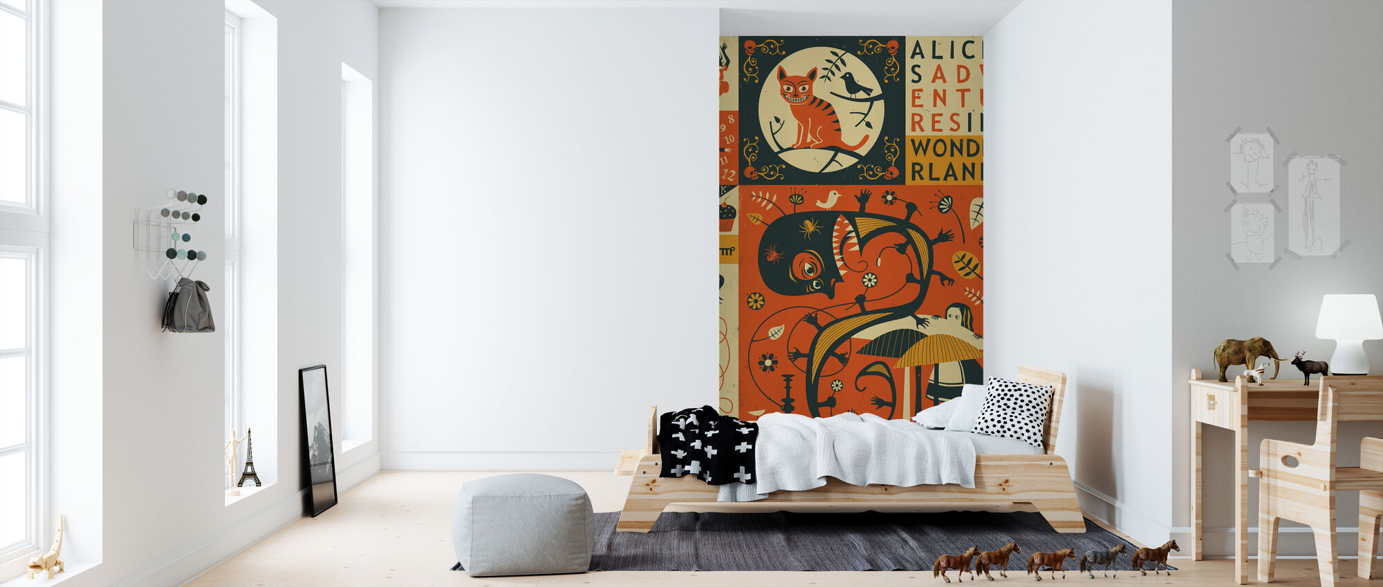 Alice In Wonderland High Quality Wall Murals With Free Delivery