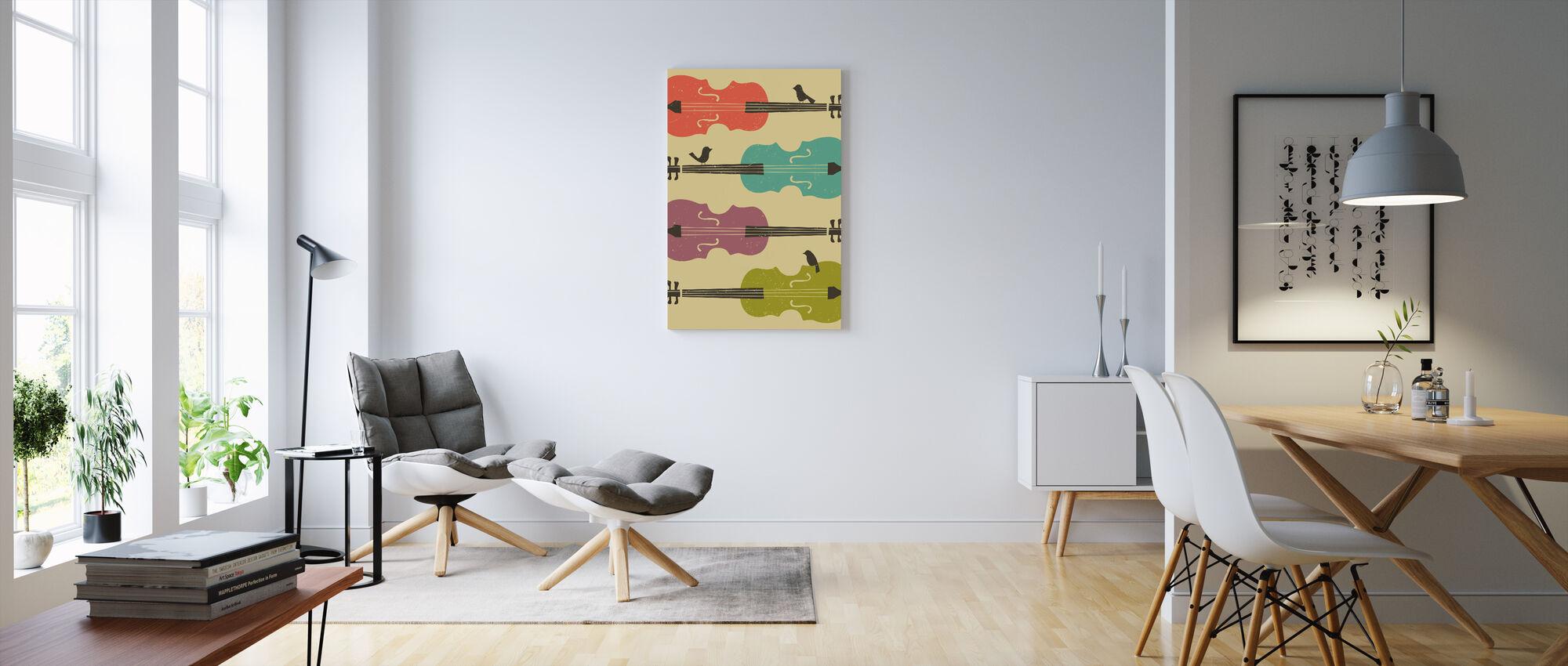 Birds on a Cello String - Canvas print - Living Room