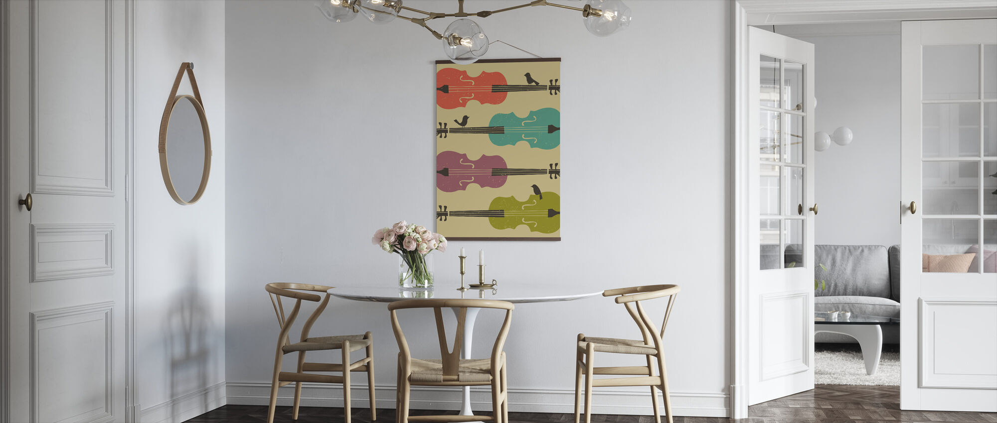 Birds on a Cello String - Poster - Kitchen