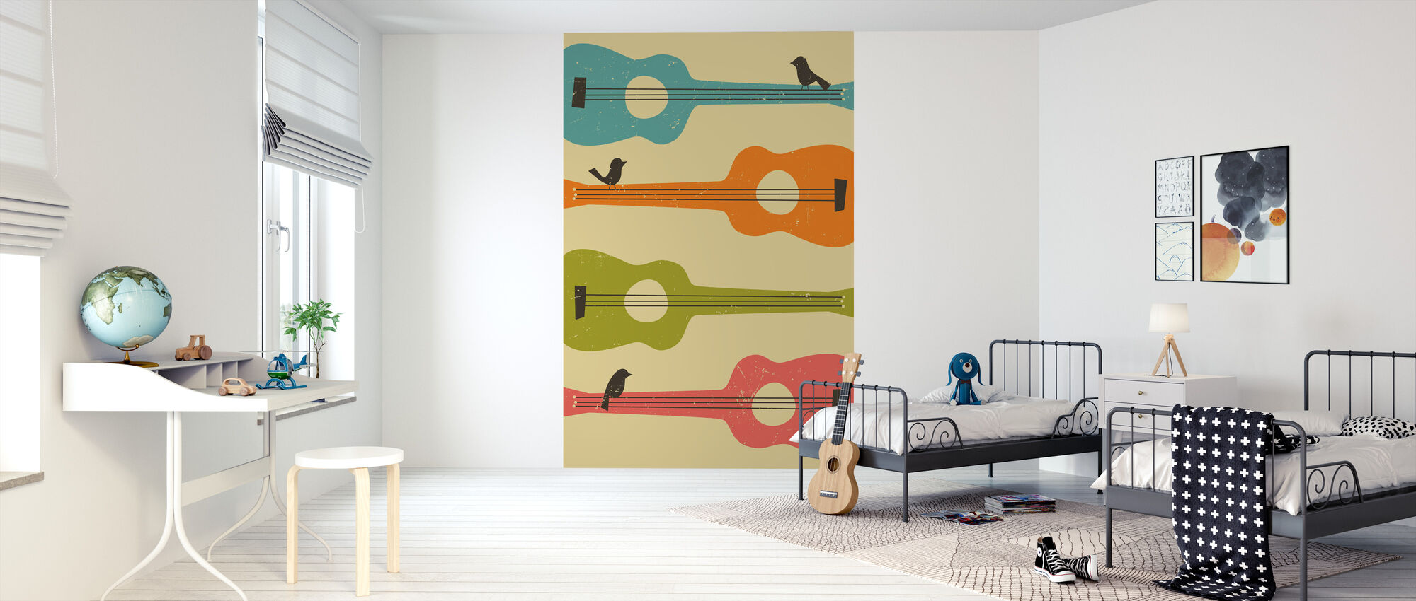 Birds on a Guitar - Wallpaper - Kids Room
