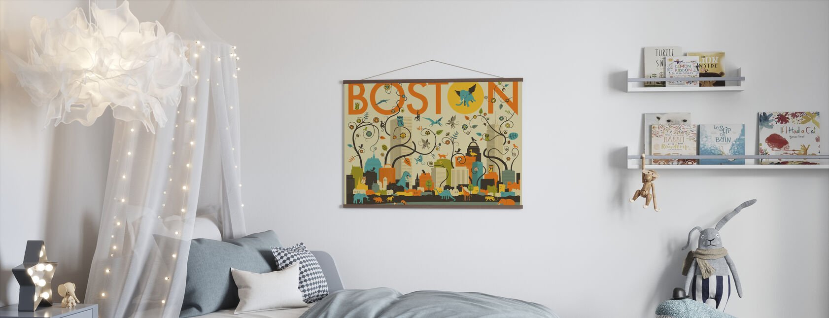 Boston Eläimet - Juliste - Lastenhuone