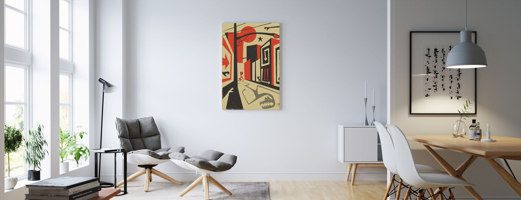 Red Riding Hood - Canvas print - Living Room