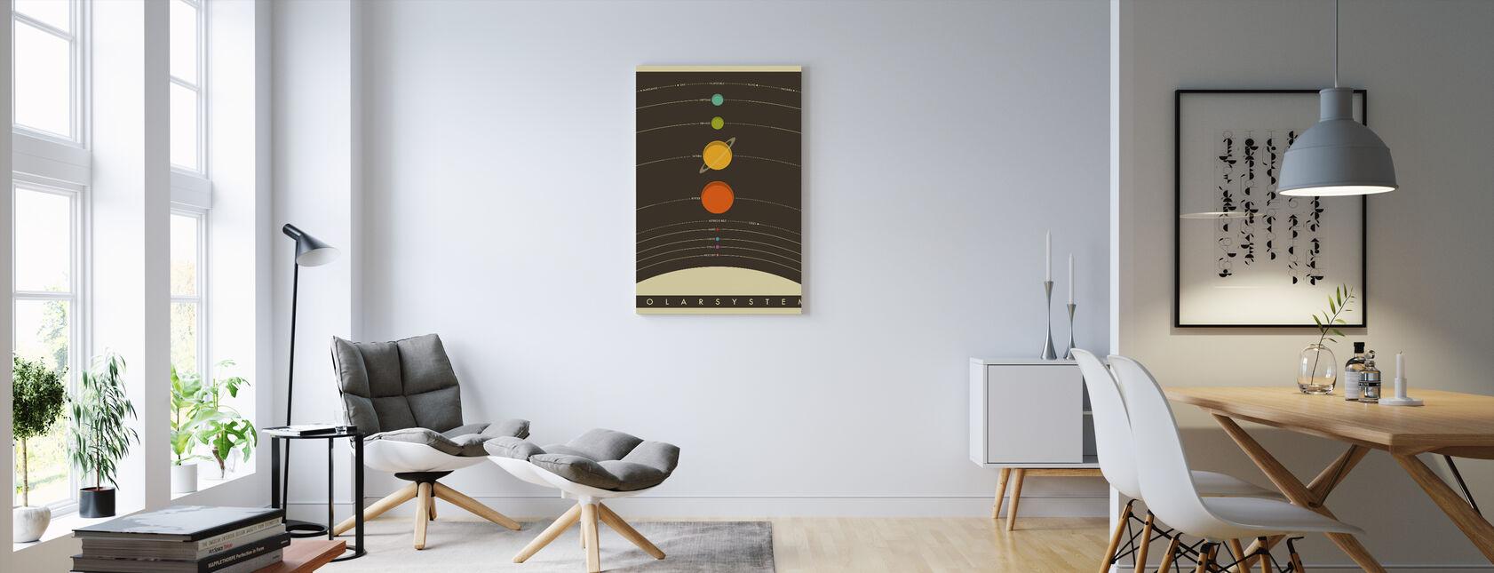 Solsystem - Brun - Billede på lærred - Stue