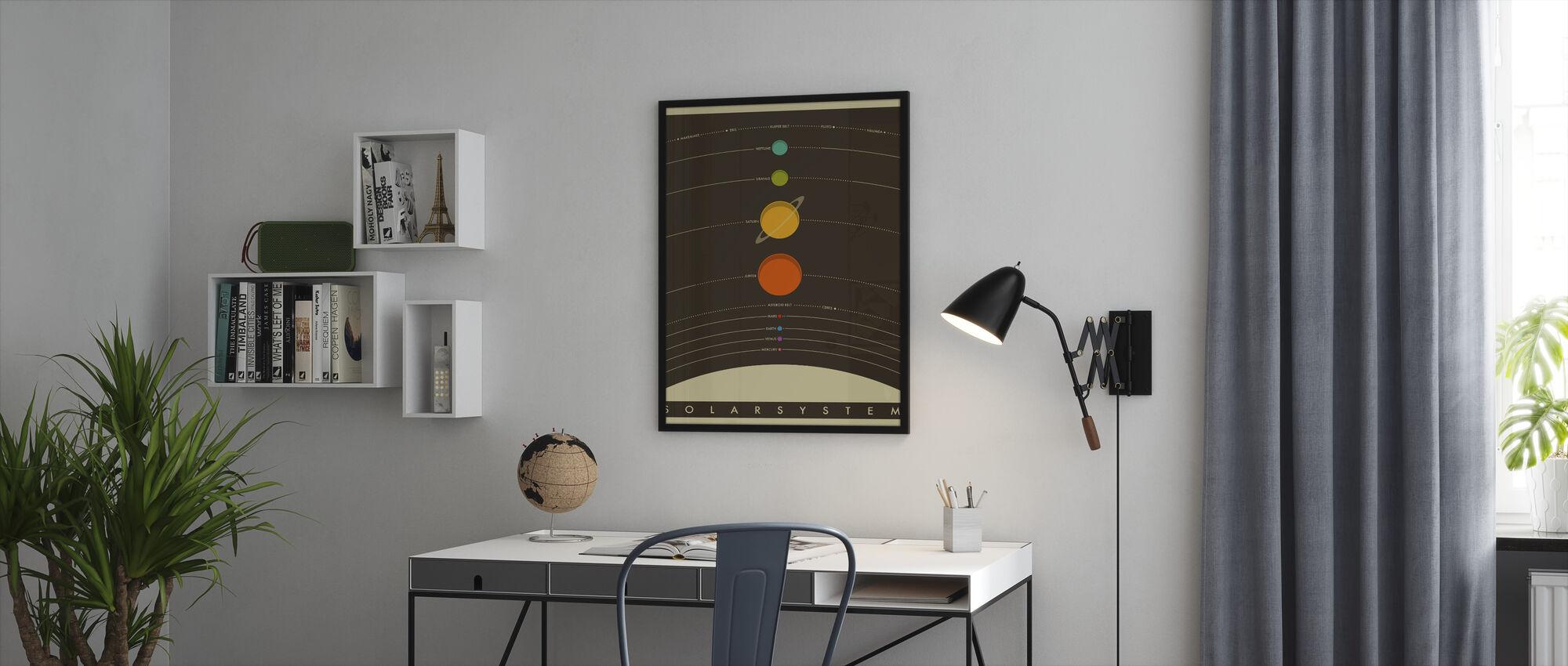 Solar System - Brown - Framed print - Office