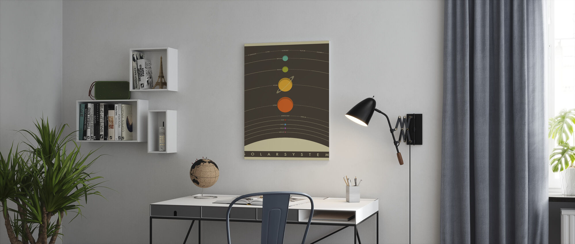 Solar System - Brown - Canvas print - Office