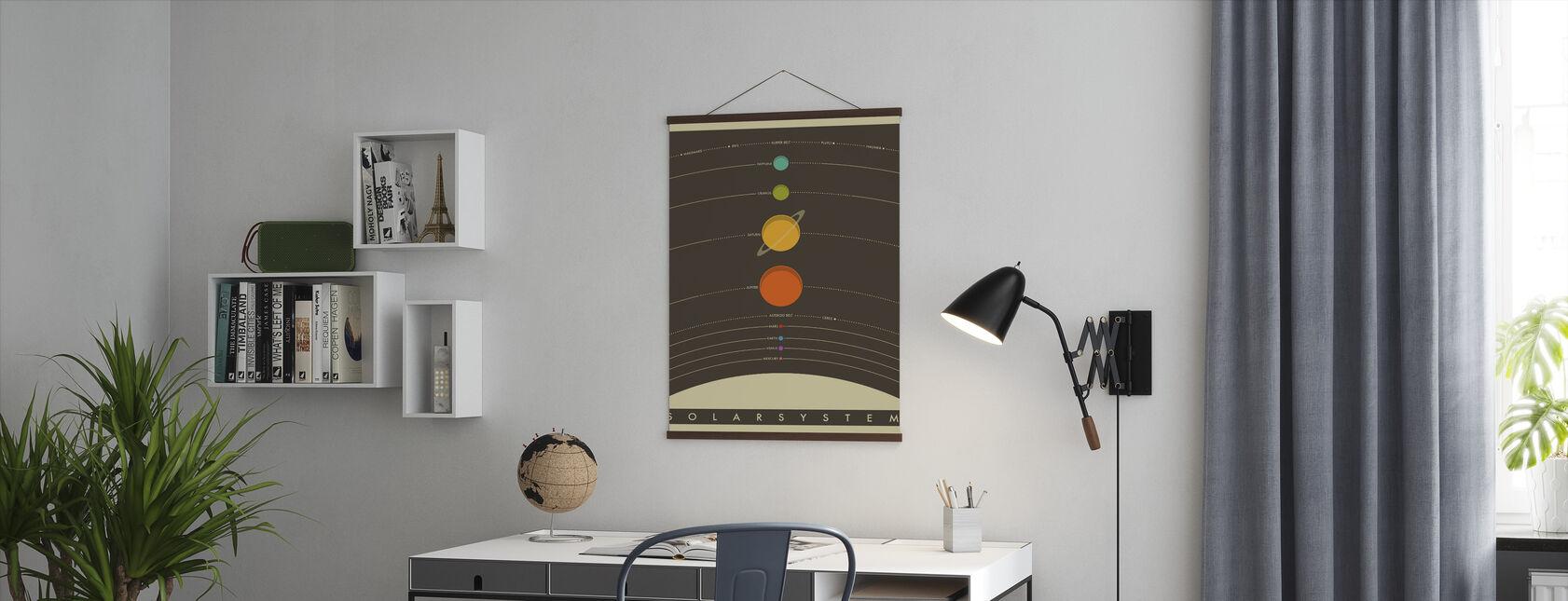 Solsystem - Brun - Plakat - Kontor
