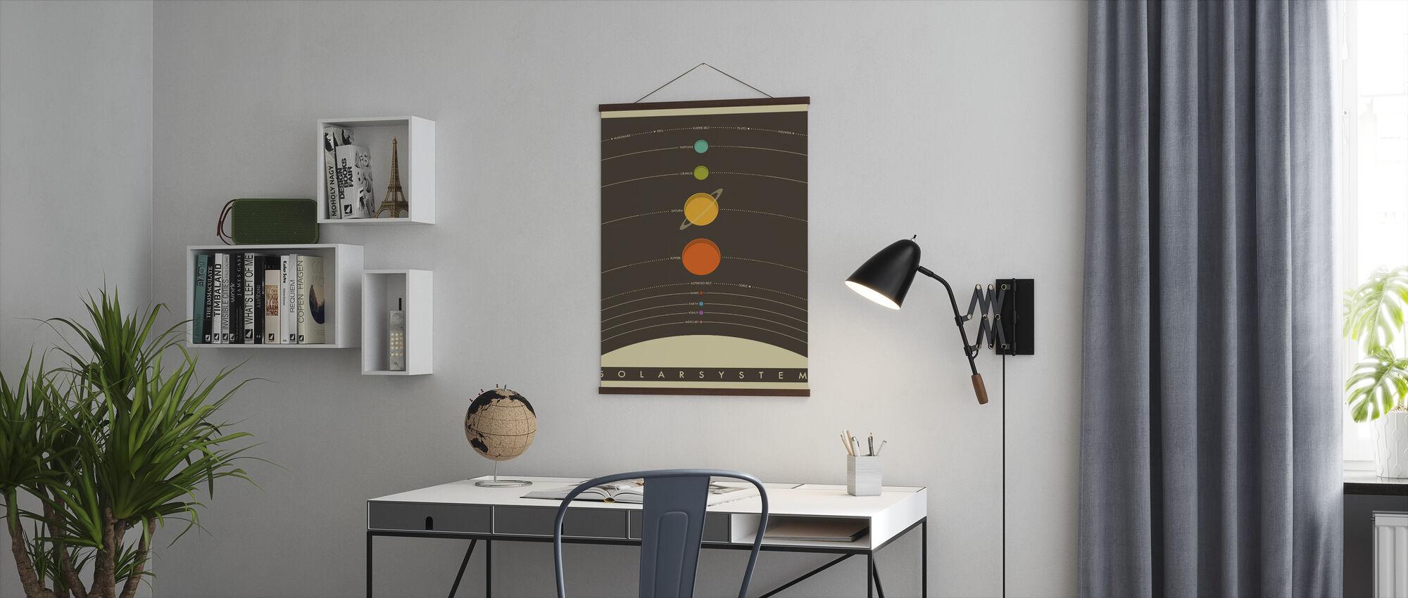 Sonnensystem - Braun - Poster - Büro