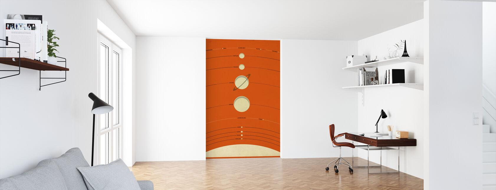Aurinkokunta - Oranssi - Tapetti - Toimisto