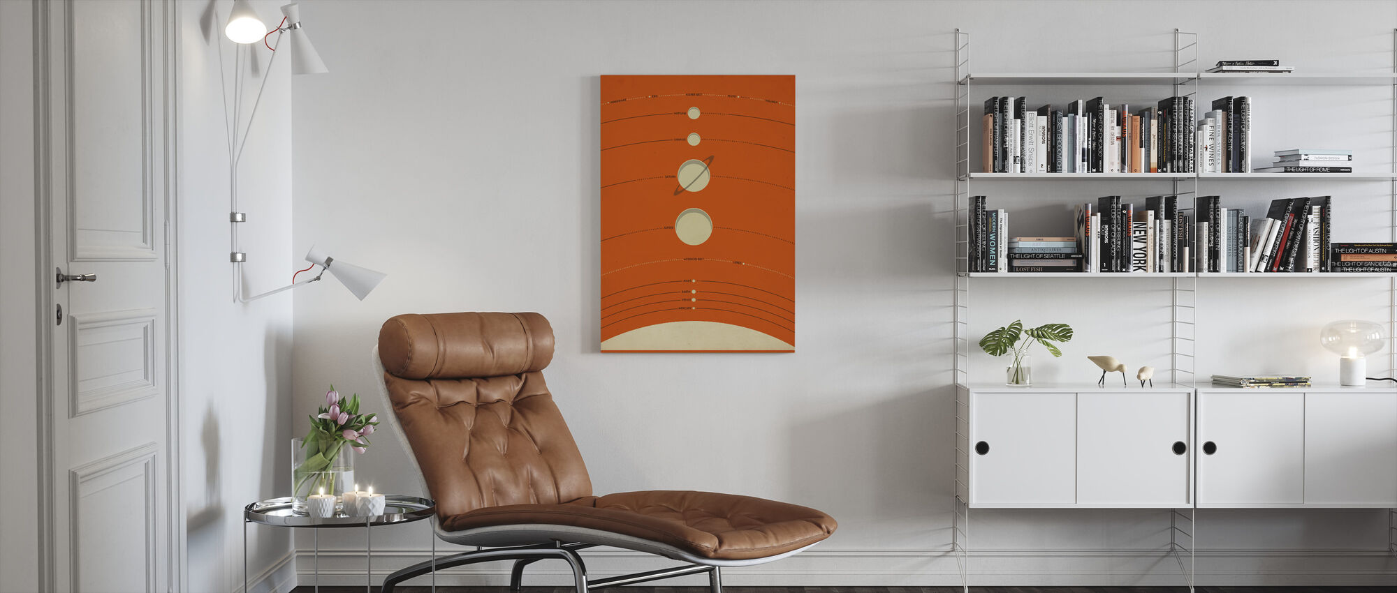 Solar System - Orange - Canvas print - Living Room