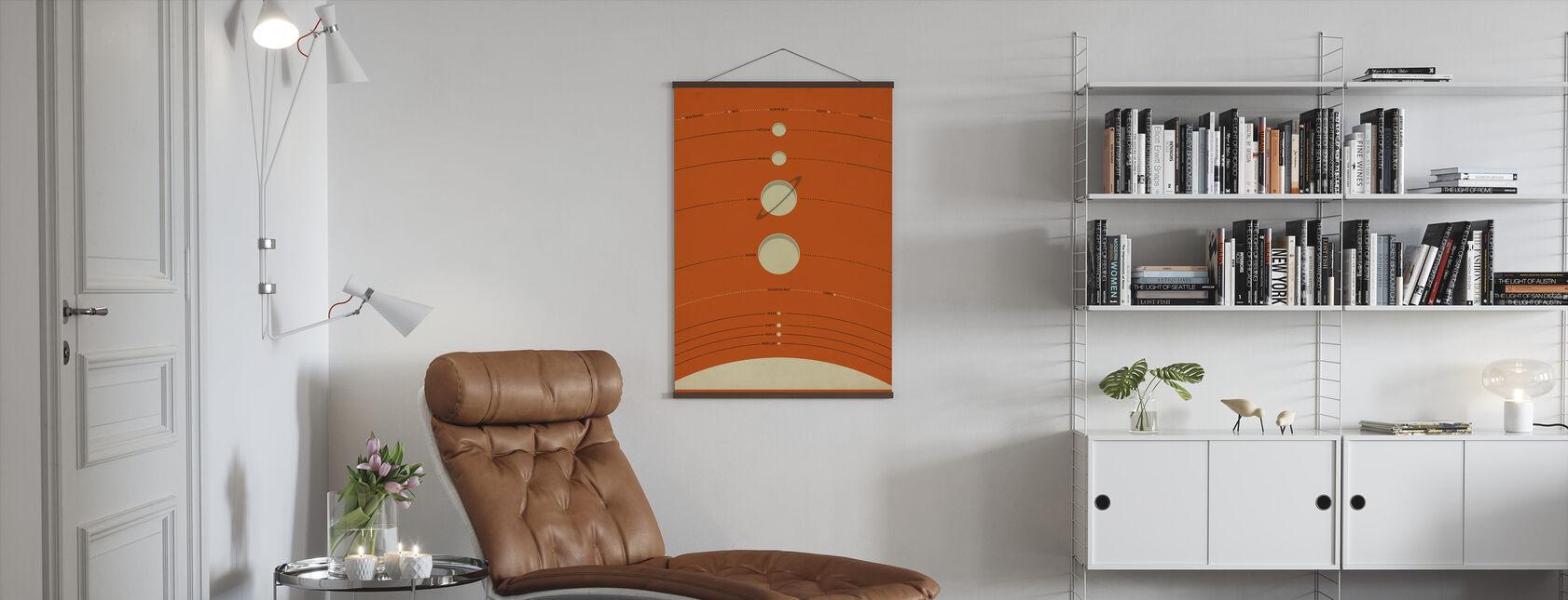 Solsystem - Orange - Plakat - Stue