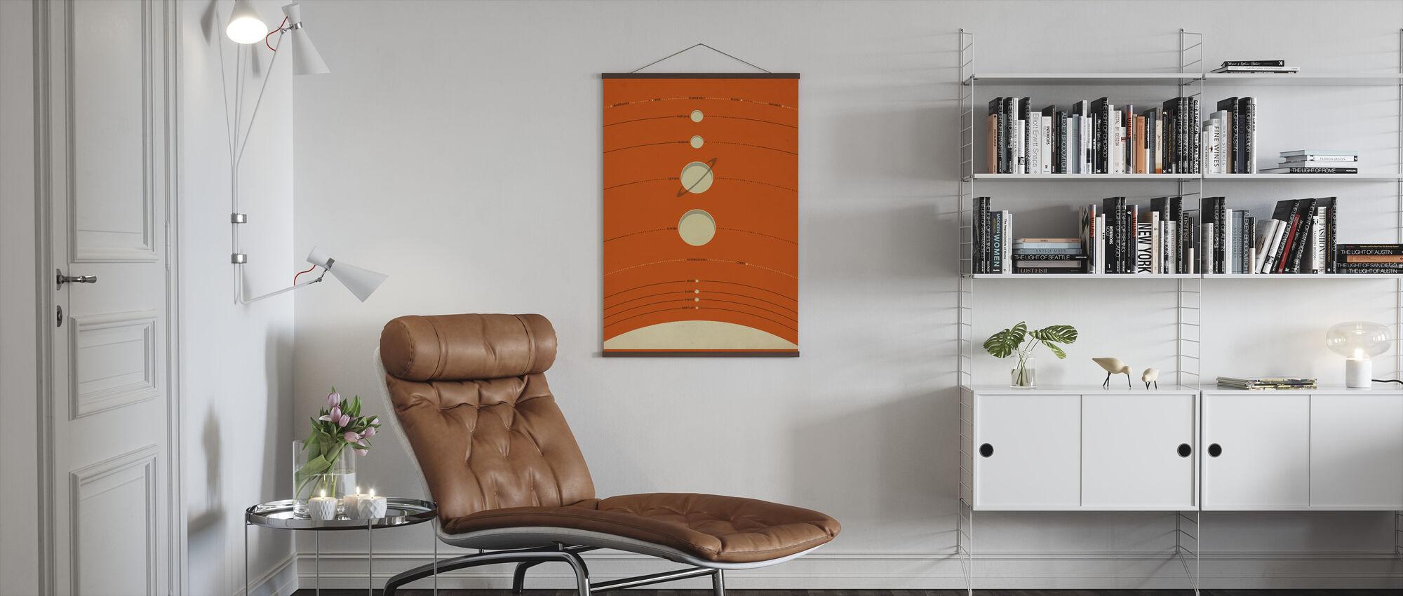 Zonnestelsel - Oranje - Poster - Woonkamer