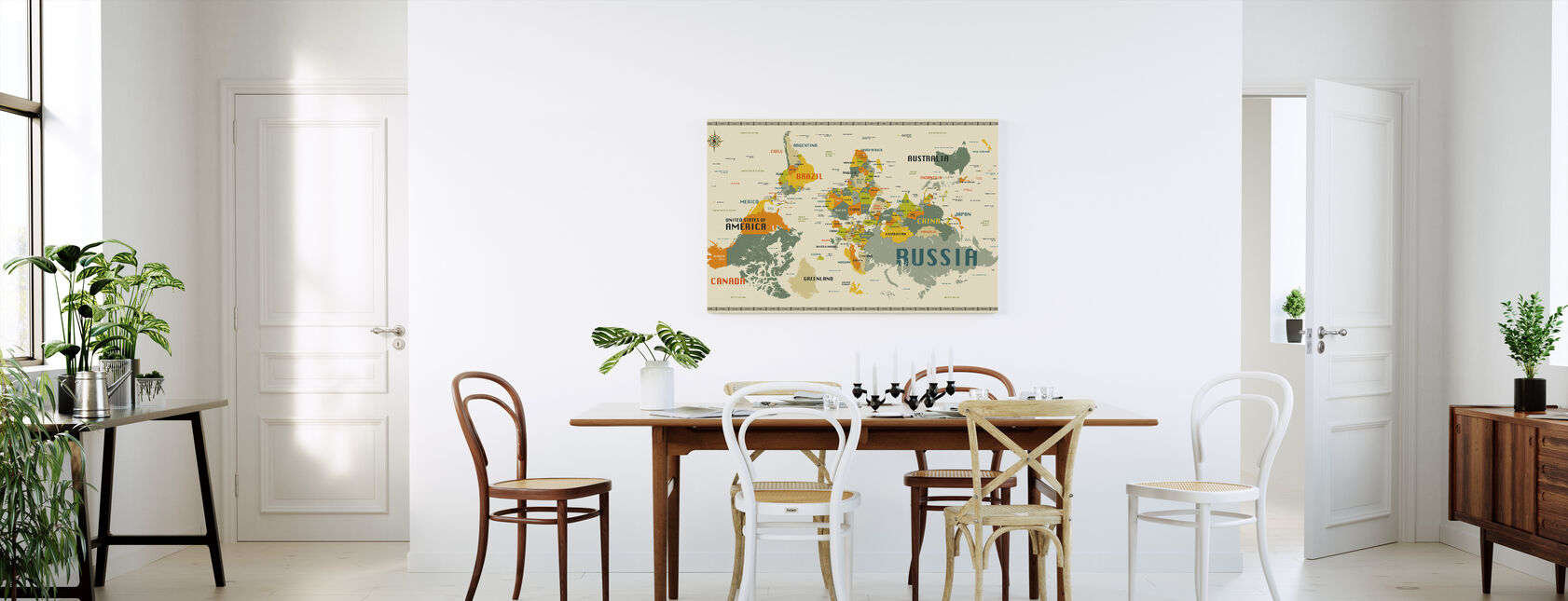World Map Explore Upside Down - Canvas print - Kitchen