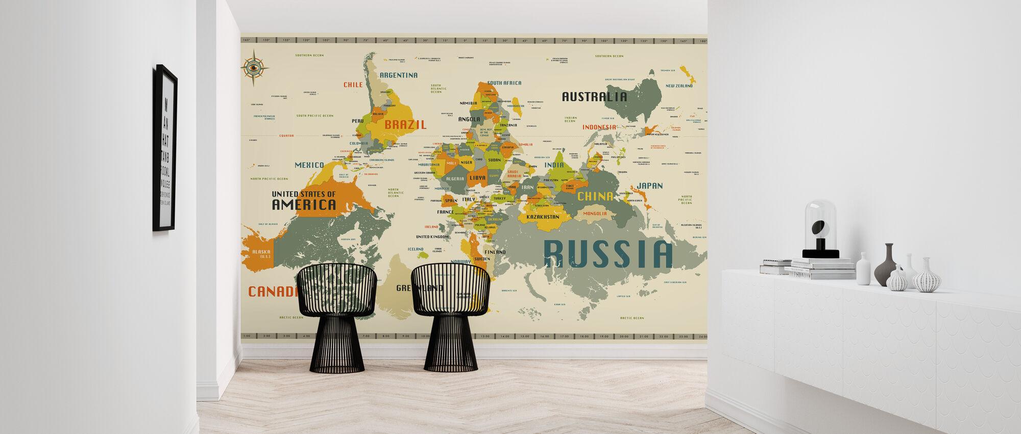 World Map Explore Upside Down