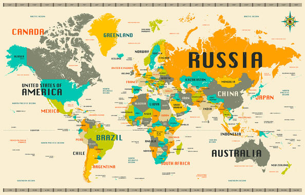 World maps trendy wall murals photowall world map explore gumiabroncs Images