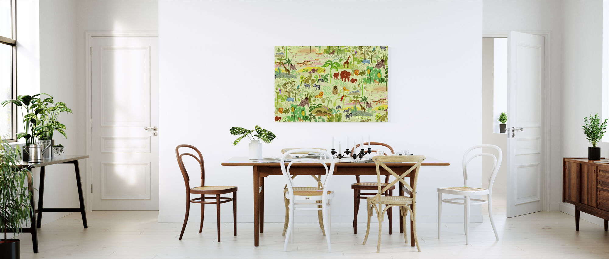 Serengeti mønster - Billede på lærred - Køkken