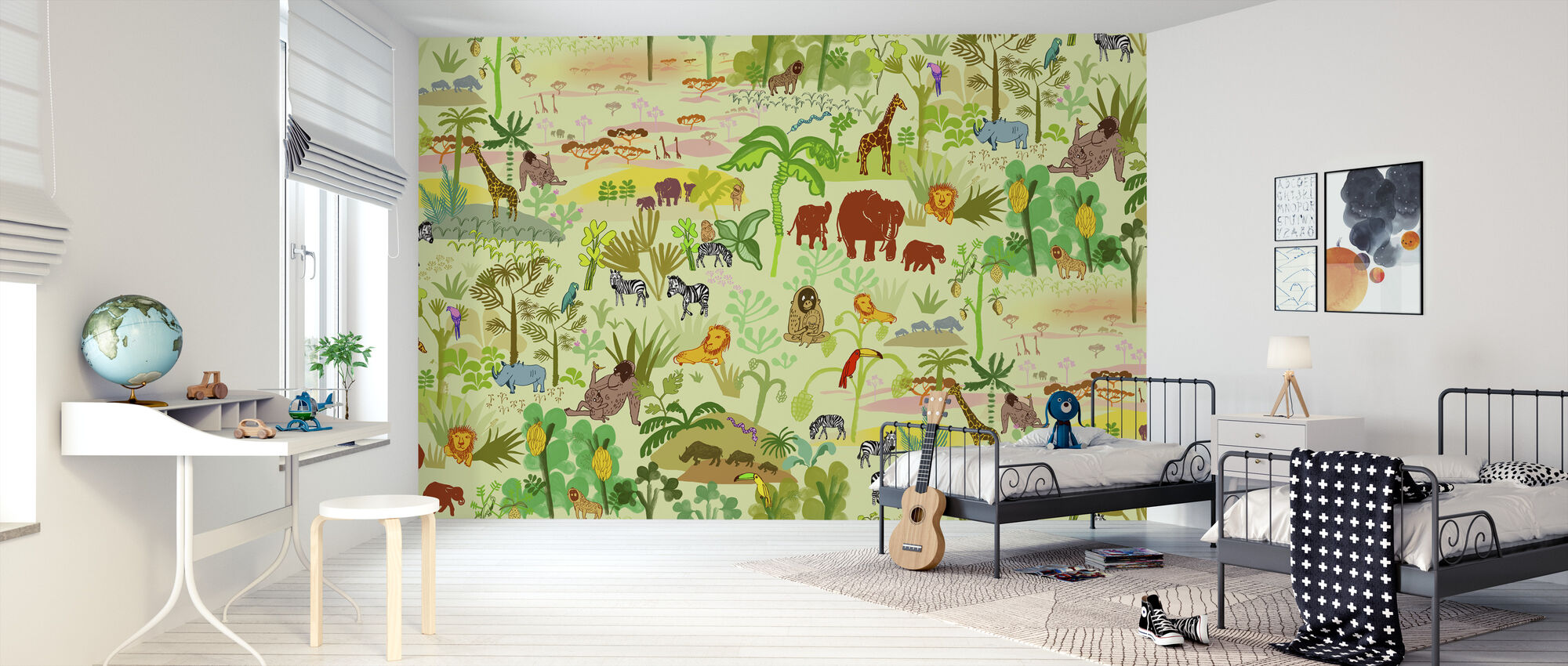 Serengeti patroon - Behang - Kinderkamer