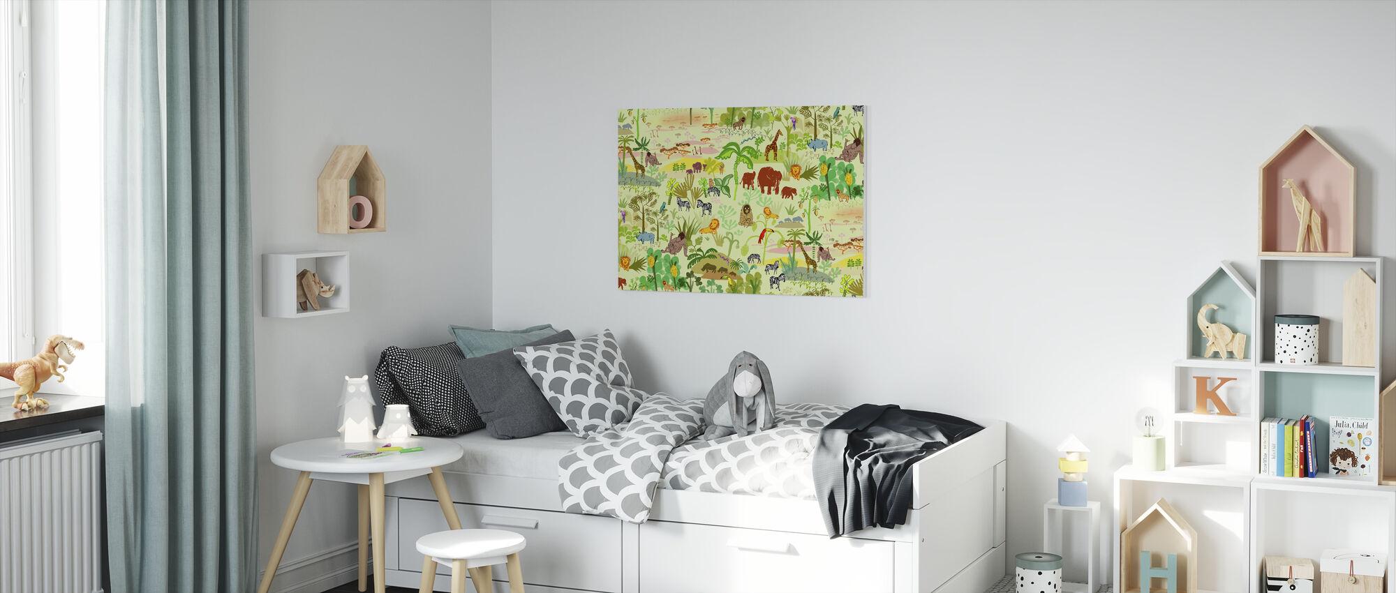 Serengeti pattern - Canvas print - Kids Room