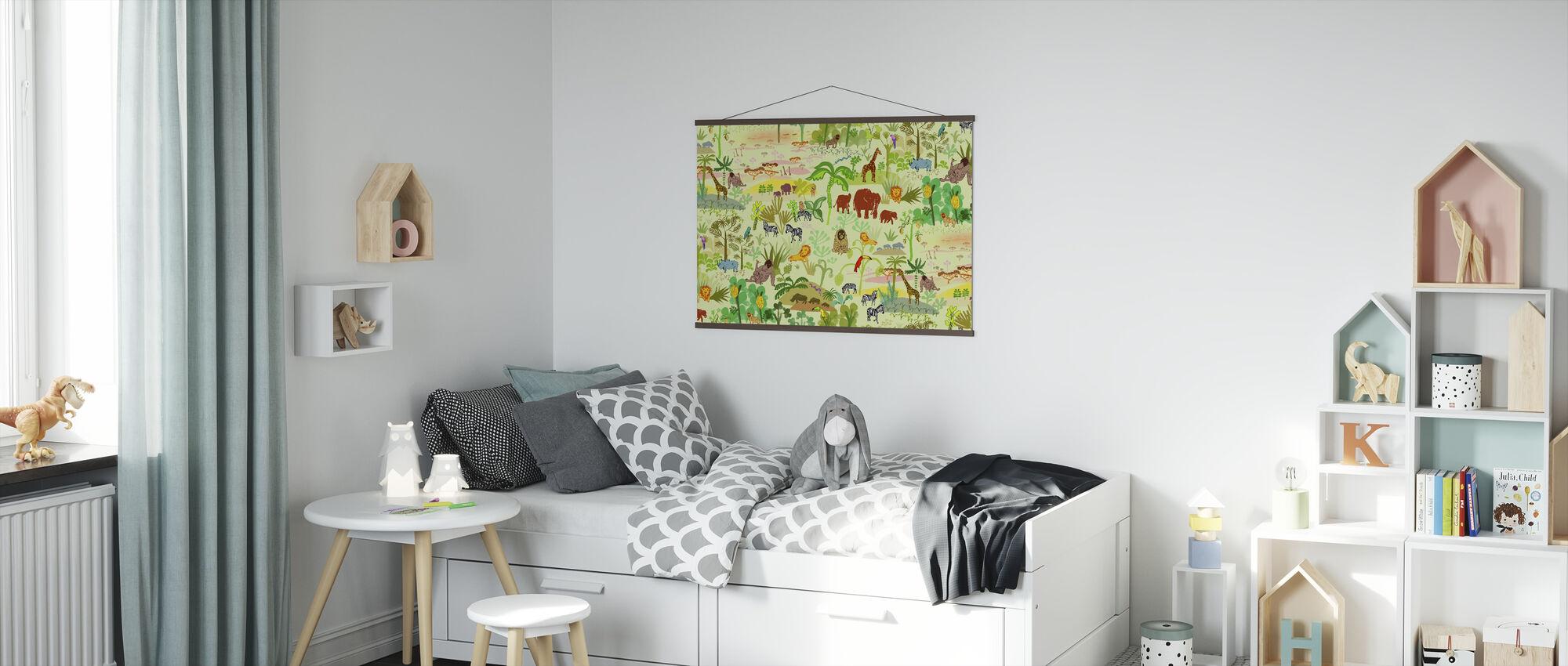 Serengeti patroon - Poster - Kinderkamer