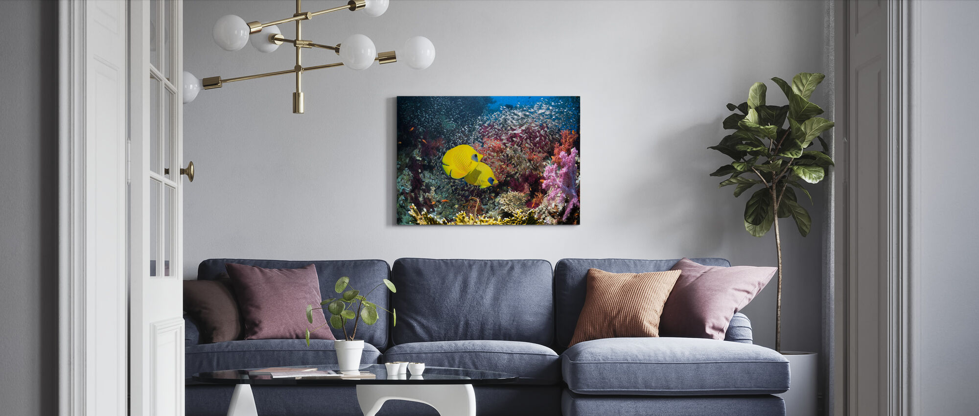 Coral Reef Scenery - Canvas print - Living Room
