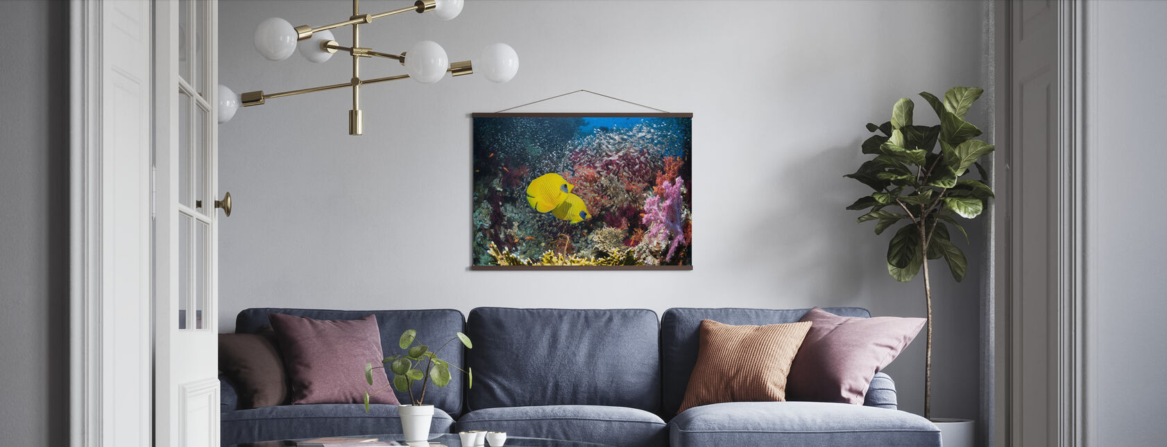 Coral Reef Scenery - Poster - Living Room